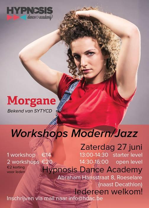 Workshop dansen met Morgan uit SYTYCD