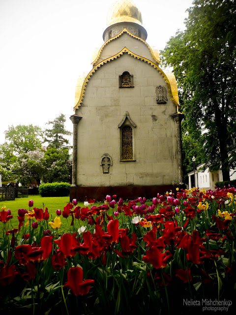 The Chapel at the Novodevichy convent in Moscow.