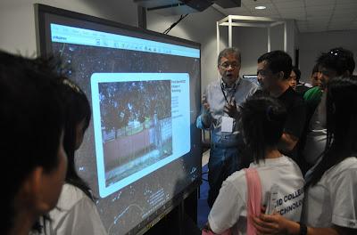 Sir Jojo shows new MCCID facade using Google Earth.