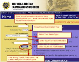 How to check waec result