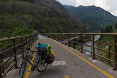 Continue on the bike highway. This was an old railway track with tunnels and bridges...