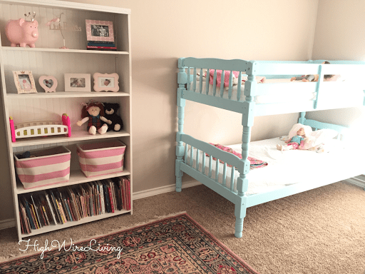 painted Aqua bunk bed