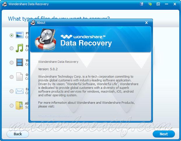 Wondershare Data Recovery Licence key
