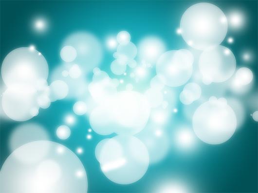 Bokeh com pontos luminosos