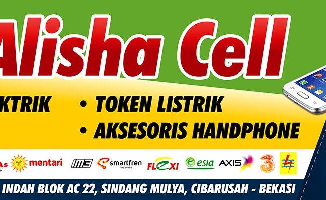 Contoh Desain Banner Counter Handphone Resty Cell Cute766