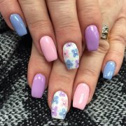 simple nail art design spring