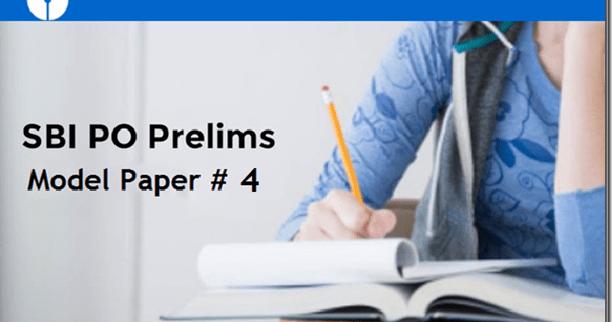 Free SBI PO 2017 Prelims Model Question Paper 4  IBPSExamGuru
