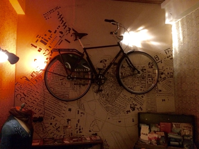 A bike on the wall at Kex