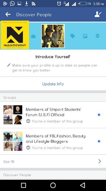 "Facebook Introduces New ""Discover People"" Menu 3"