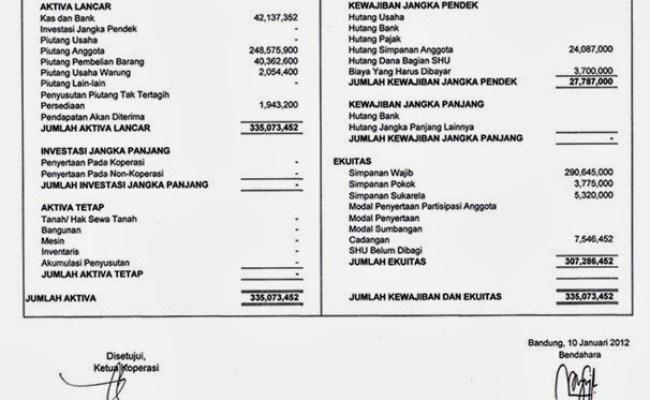 Contoh Laporan Keuangan Koperasi Simpan Pinjam Contoh Press Cute766