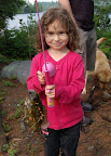 Isabella catches her first fish... all by herself!