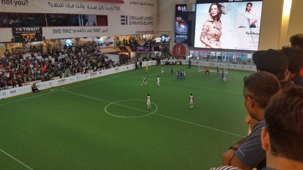 Soccer field in the Dubai mall