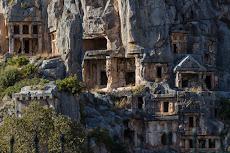 The old tombs of Myra next to Demre