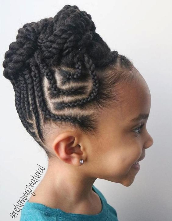 +10 Cornrows Hairstyles For Little Kids 2018 3