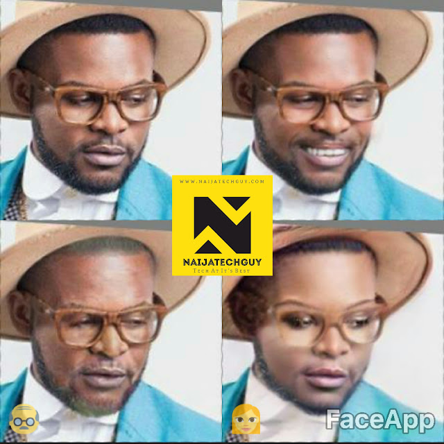 Check Out Ex President Obasanjo, Tekno, Genevieve Nnaji And Others After A FaceApp Transformation 7