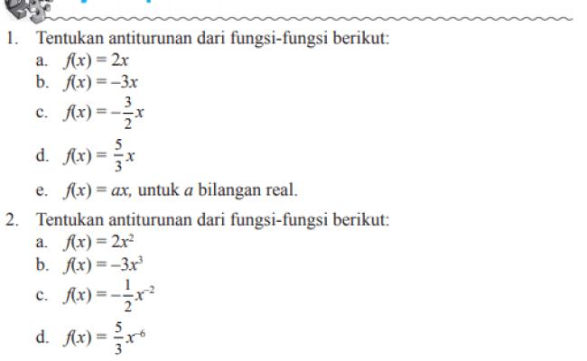 Integral Tak Tentu Latihan Soal Matematika Kelas 11 Cute766