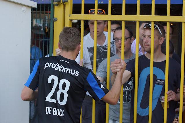 De Bock bij supporters