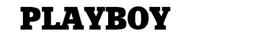 Xenia font logo revista Playboy