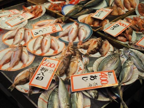 市場の鮮魚売り場