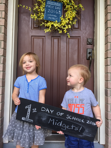 littles first day of school picture