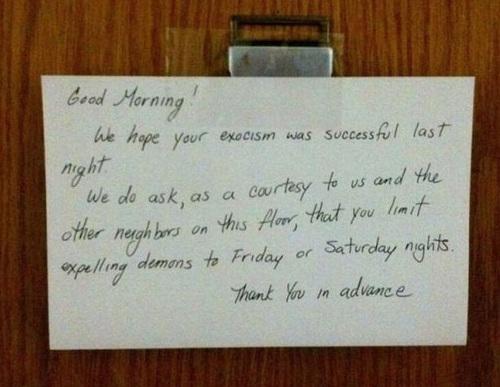 Neighbour Note 15