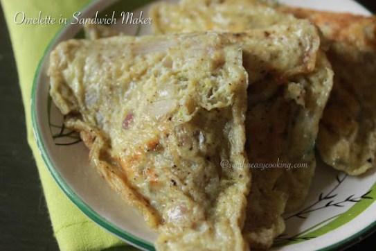 Omelette in Sandwich Maker4
