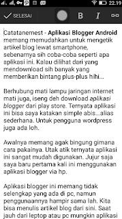 Aplikasi Blogger Android