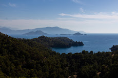 Beautiful coast line around Göcek