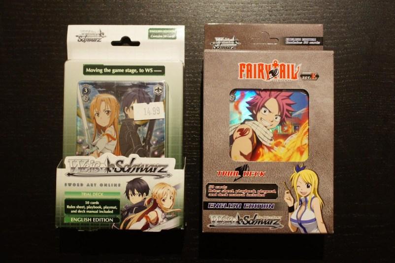 Weiß / Schwarz TCG Sammelkartenspiel SAO Sword Art Online Fairy Tail