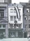 Ranstädter Steinweg 18, Geschäftsjubiläum Fleischerei Louis Rothe, um 1925, Fotograf: Hermann Walter (Atelier)