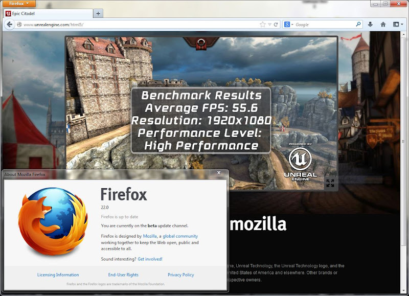 Firefox 22 Beta เปิดใช้ asm.js มาในตัว