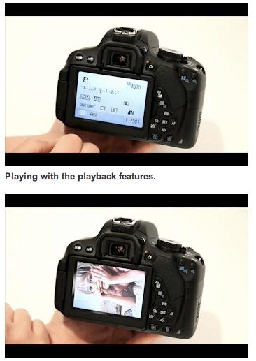 Canon EOS Kiss X6 液晶操作の動画