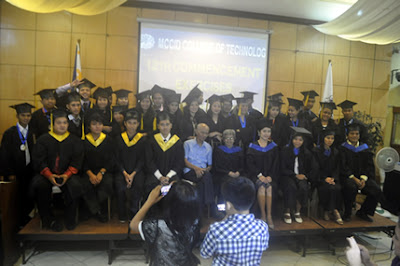 Batch 2012 pose together with MCCID Administrators, Faculty and Special Guest Speaker.
