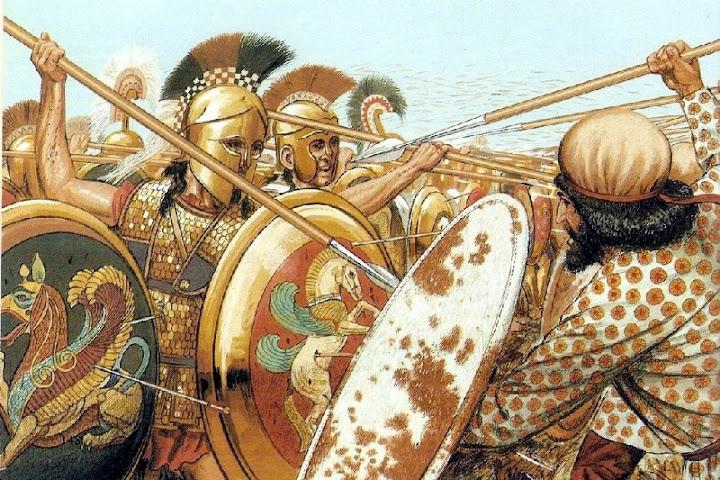 Марафонская битва до подвига царя Леонида