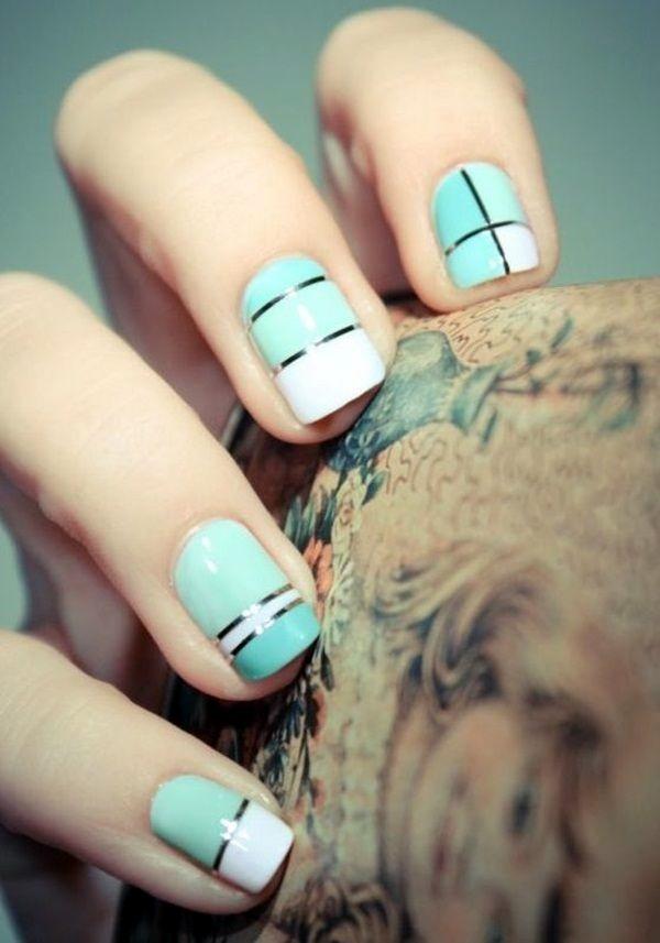 Galaxy Nail Art For Short Nails Designs 2016