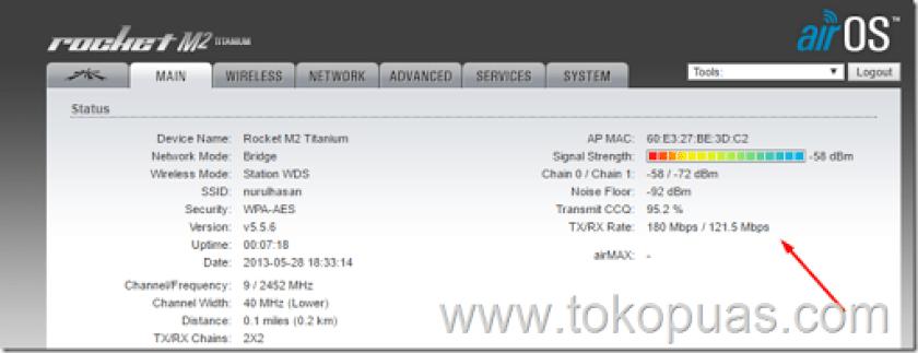 setting maximal speed rocket m2 titanium