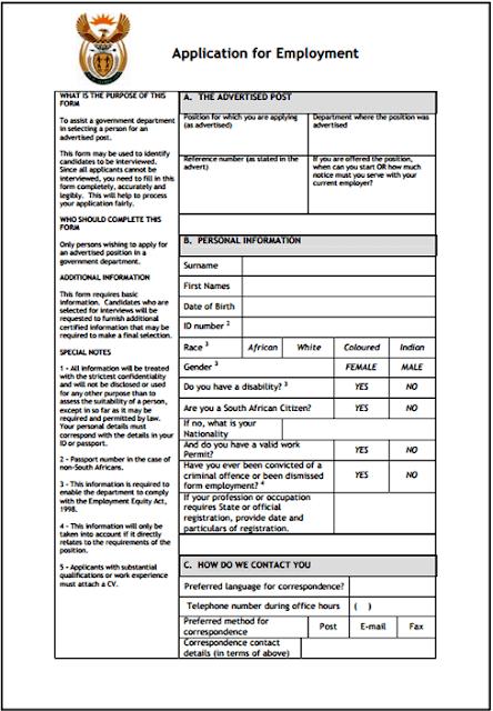 Z83 Application form