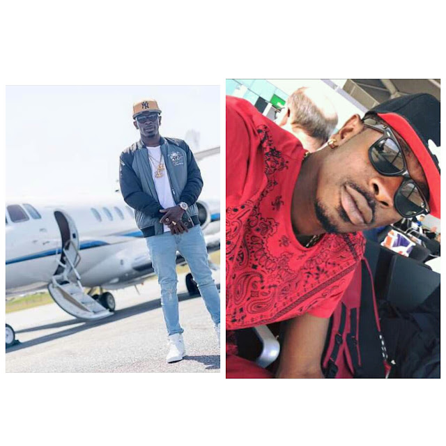 Shatta Wale has officially bought himself a private jet and here is the first photo of inside the jet
