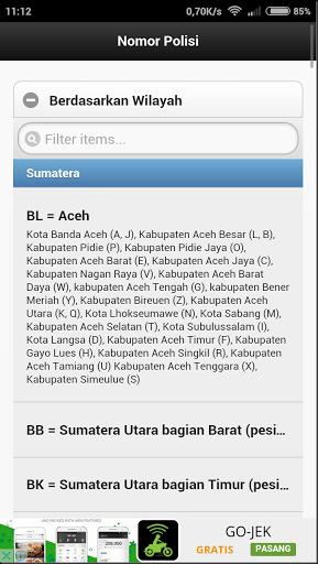 kode kendaraan bermotor berbagai kota di indonesia