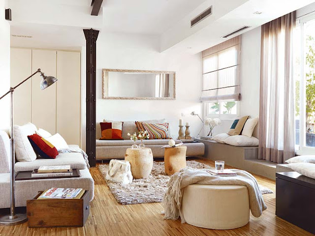 barcelona sectional sofa ottoman massive bed mix and chic: effortlessly chic casual living rooms!