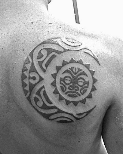 40 beautiful sun tattoo designs and ideas tattoos me for Polynesian sun tattoo