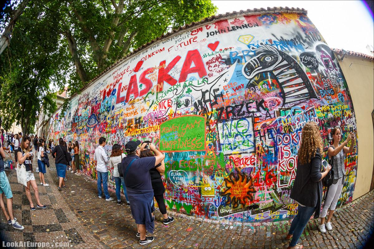 Стена Джона Леннона в Праге   LookAtIsrael.com - Фото путешествия по Израилю