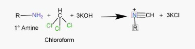 chemical properties of amines, carbylamine reaction