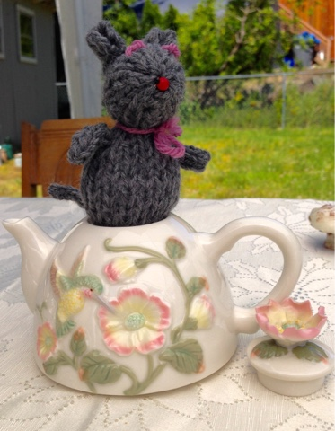 Mad Hatter Tea Party Mouse in a teapot
