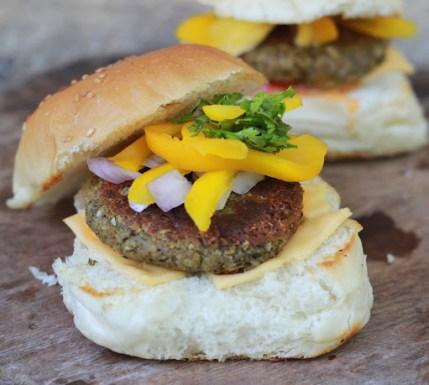 绿扁豆和燕麦汉堡食谱