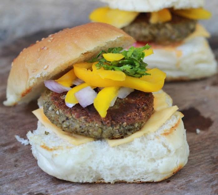 Green Lentil and Oats Burger Recipe   Vegan & Protein Rich Burgers   Veggie burgers recipe   Foodomania.com