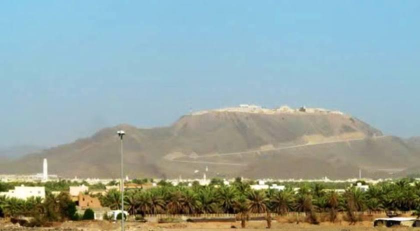 Kingdom Palace di Jabal Habsyi (tampak samping), terletak 7 km dari kota Madinah Al-Munawwarah
