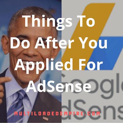 How obama applied for google AdSense