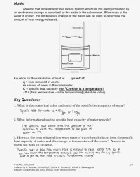 Calorimetry Worksheet Answer Key - Kidz Activities