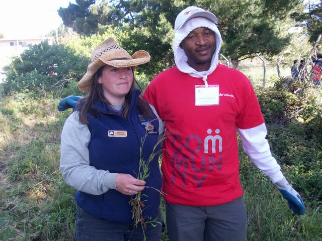 IVLP 2010 - Volunteer Work at Presidio Trust - 100_1414.JPG